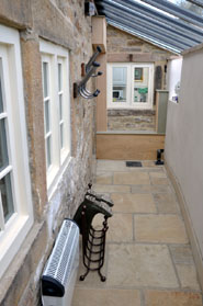 Rear Access The Nook at Beeley Holiday Cottage